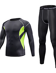 Men's Baselayer Fitness, Running & Yoga Windproof Breathable Clothing Suits for Yoga Running/Jogging Exercise & Fitness Basketball