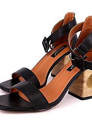 Mujer Sandalias Confort PU Verano Casual Confort Negro Rojo 5 - 7 cms