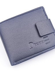 Men Money Clip PU Polyester All Seasons Office/Career Daily Casual Rectangular Snap Dark Coffee Coffee Black