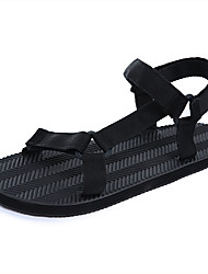 Women's Sandals Gladiator Summer Rubber Casual Black Flat