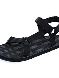 Women's Sandals Gladiator Rubber Summer Casual Gladiator Black Flat
