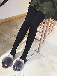 Women's High Waist Micro-elastic Legging Pants,Simple Skinny Pure Color Solid Plain