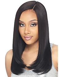 Premier ® light yaki glueless short bob haircut perruque en dentelle avant 100% perruques de cheveux vierges brésiliennes pour femmes
