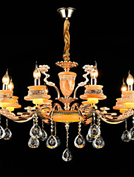 Lumière pendante, alliage de zinc traditionnel / classique contemporain / alliage de zinc classique pour salle de salle à manger de style