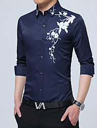 Men's Wedding Plus Size Beach Party/Cocktail Holiday Going out Casual/Daily Work Club Simple Cute Punk & Gothic All Seasons Shirt,Floral