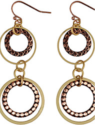 Women's Drop EarringsBasic Circular Unique Design Dangling Style Pendant Circle Friendship Multi-ways Wear Cute Style Durable Euramerican