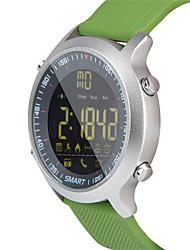 hhy ex18 reloj elegante pulsera noticias empuje luminoso dial profesional cronómetro 50 metros super impermeable