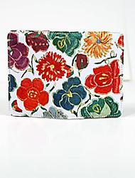 Femme Etui à Carte & Pièce d'Identité Tissu Oxford Polyester Toutes les Saisons Décontracté Fermeture Blanc Noir