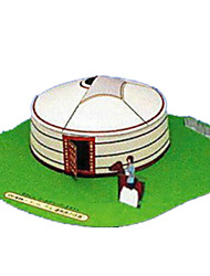 Rompecabezas Kit de Bricolaje Puzzles 3D Bloques de construcción Juguetes de bricolaje Edificio Famoso Arquitectura China Papel duro
