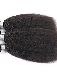 Tissages de cheveux humains Cheveux Indiens Yaki 12 mois 3 tissages de cheveux