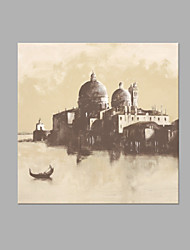 IARTS® Modern Abstract Oil Painting Venice Waterfront Scenery Picture with Stretched Frame Handmade Oil Painting For Home Decoration Ready To Hang