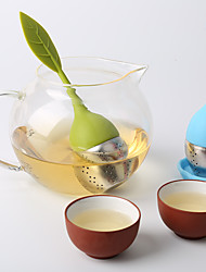 Creative Stainless Steel Silicone Tea Strainer