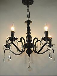 Nouveauté allumage style européen fer forgé salon lampe originalité individualité décoration restaurant chandelier lampe chandelier