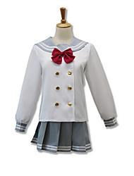 Ternos de Cosplay Tops Cosplay / Bottoms Mais Acessórios Inspirado por Amar viver Fantasias Anime Acessórios para CosplayPeitilho Blusa