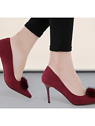 Women's Heels Basic Pump Comfort PU Spring Casual Basic Pump Comfort Blushing Pink Green Black Under 1in
