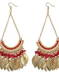Drop Earrings Women's Bohemia Style Leaves Measle Rhinestone Tassel EarringsFor Women Charm Movie Jewelry