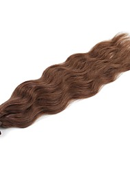 Neitsi 20'' 50g/lot 1g/s Natural Wave Keratin Fusion U Tip Human Hair Extensions Curly Pre bonded Hair 8#