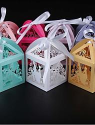 50 Pièce / Set Titulaire de Faveur-Rectangulaire Papier nacre Boîtes à cadeaux