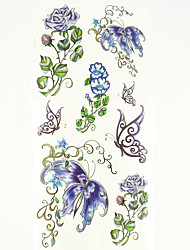 Временные тату Тату с цветами С рисунком Нижняя часть спины Waterproof Женский Мужской Подростки Вспышка татуировки Временные татуировки