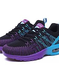Femme Chaussures d'Athlétisme Confort Tulle Printemps Automne Athlétique Décontracté Course à Pied Confort Lacet Talon PlatGris Violet