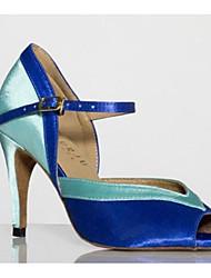 Damen Tanz-Turnschuh PU Sandalen Sneakers Im Freien Blockabsatz Purpur Blau 5 - 6,8 cm