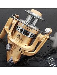 Reel Fishing Roulement Moulinet spinnerbaits 5.0:1 12 Roulements à billes EchangeablePêche d'eau douce Pêche au leurre Pêche générale