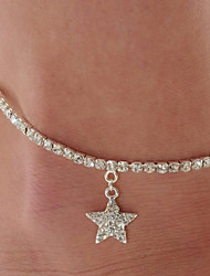 Fashion Diamond Star Alloy Leg Chain Jewelry For Casual 1pc