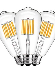 3 Pack 10W Edison Style Vintage LED Filament Light Bulb 2700K Warm White AC 220V-240V