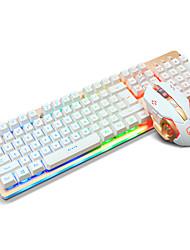 Ajazz usb клавиатура мышь с подсветкой мыши с 6-кратным разрешением dpi с кабелем 160 см