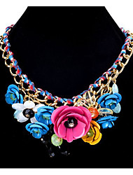 Women's Chain Necklaces Statement Necklaces Flower Alloy Unique Design Petals Friendship Bohemian Personalized Euramerican Gothic Movie