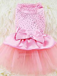Chien Robe Vêtements pour Chien Décontracté / Quotidien Princesse Vert Bleu Rose Noir/Blanc Kaki