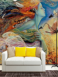 Artistico Design Personaggio Sfondo Per la casa Contemporaneo Rivestimento pareti , Tela Materiale adesivo richiesta Murale , Carta da