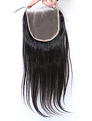 Silk Straight 5x5inch Lace Closure Human  Hair Top Lace Closure with Baby Hair