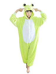 Kigurumi Pijamas Sapo Collant/Pijama Macacão Festival/Celebração Pijamas Animais Dia das Bruxas Verde Patchwork Lã Polar Kigurumi Para