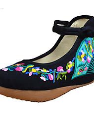 Femme Chaussures de mariage Confort Tissu Printemps Décontracté Confort Blanc Noir Rouge 5 à 7 cm
