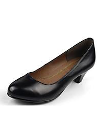 Mujer Tacones Zapatos formales Cuero Primavera Otoño Zapatos formales Tacón Robusto Negro 7'5 - 9'5 cms