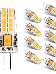 10PCS BRELONG G4 20*2835SMD 270-300LM Warm/Cool White AC/DC 10-16V Waterproof LED Bi-pin Lights