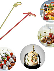 12cm Long 100Pcs/lot Disposable Bamboo Fork Twisted Party Buffet Fruit Desserts Food Cocktail Sandwich Fork Stick Skewer