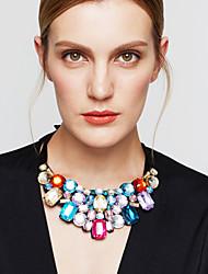 Women's Statement Necklaces Bib necklaces Crystal Jewelry Rhinestone Imitation Diamond 18K gold Austria CrystalFashion European Statement