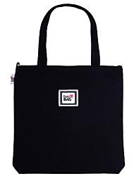 Women Shoulder Bag Canvas All Seasons Casual Shopper Magnetic Beige Black