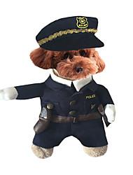 Собака Костюмы Одежда для собак Косплей Хэллоуин Сплошной цвет Цвет отправляется в случайном порядке