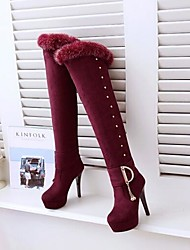 Women's Boots Comfort Fashion Boots Fleece Fall Winter Casual Comfort Fashion Boots Ruby Black 2in-2 3/4in