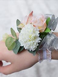 """Fleurs de mariage Petit bouquet de fleurs au poignet Cérémonie de mariage 3.94""""(Env.10cm)"""