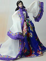 Robes et Jupes Habillé Pour Poupée Barbie Manteau Robe Pour Fille de Jouets DIY