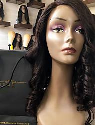 Nouveau style en dentelle perruques de cheveux humains avant avec cheveux bébé cheveux doux de couleur 130% densité brune paire de