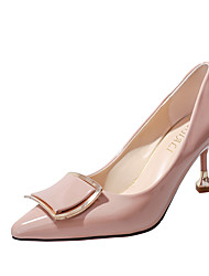 Women's Heels Formal Shoes Comfort PU Fall Party & Evening Dress Walking Formal Shoes Comfort Stiletto HeelAlmond Blushing Pink Beige