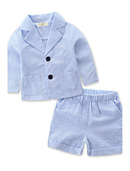 Girls Boys' Stripe Stripes Striped SetsCotton Polyester Summer Short Pant Baby Clothing Thin Section Suit Set