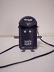 Femme Mobile Bag Phone Polyuréthane Toutes les Saisons Décontracté Baguette Magnétique Blanc Noir
