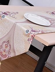 European High-grade Embroidery Cotton And Linen Table Flag 32*210cm