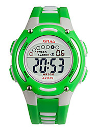 Kid's Fashion Watch Digital Water Resistant / Water Proof Noctilucent Rubber Band Black Red Orange Green